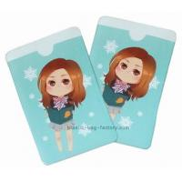 Pretty Little Girl Plastic Card Holder , Environment Friendly ID Card Holder Manufactures