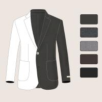 Buy cheap Men Handmade Woolen Notch Lapel Coat One Breasted with Two Buttons from wholesalers