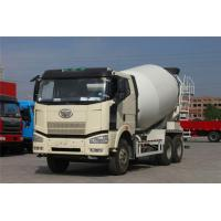 White Concrete Construction Equipment  , FAW J6P Self - Load Mobile Concrete Mixer 8 Cubic Meters Manufactures