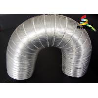 6 Inch Flexible Semi Rigid Aluminum Duct Silver Round For Hydroponic System Manufactures