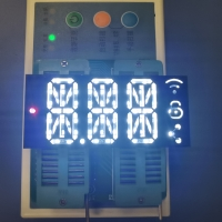 China New Production Technology Customized Ultra bright whiteTriple Digit 14 Segment Alphanumeric LED Display on sale