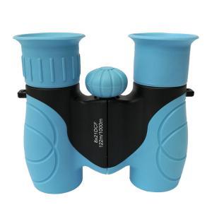 Blue Mini 8x21 Kids Plastic Binoculars Shockproof Kids Toy Binoculars Manufactures