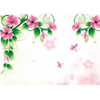 China The Beautiful Flowers Faux Tile Wall Panels Imitation Tile Panels For Study Room on sale