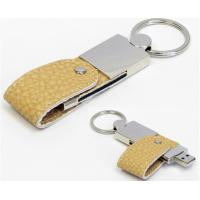 OEM Gift  Leather USB Flash Drive , 16GB Usb Flash Drive Leather Case  Brown Manufactures