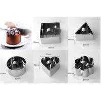 Quality Square Shaped Mousse Ring Molds For Cooking , Mini Cheesecake Mould For Home for sale