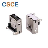 China SMT Solder Mini USB Connector , Offset USB Solder Connector Bronze Contact Material on sale