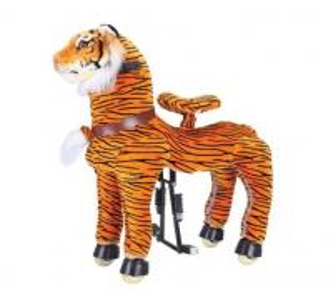 Rocking Tiger Amusement Park Equipment Mechanical Pony Kid Ridding On Walking Animal Manufactures