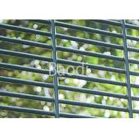Anti Climb Welded Mesh Panel , Green Powder Coated Wire Security Fencing Manufactures