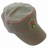 Fashionable Star Army Cap, Made of 100% Cotton Twill Fabric, Hook-and-loop Closure Manufactures