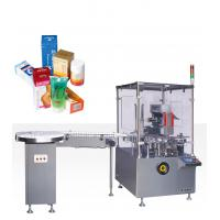 220V 50HZ 0.75kw Vertical Cartoning Equipment With Online Bottle Unscramable And Feeing Manufactures