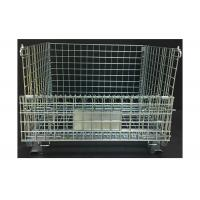 China Heavy Duty Rigid Wire Mesh Container 800KG Loading Capacity Foldable Type on sale