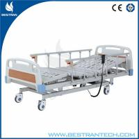 ABS Headboard / Footboard Electric Hospital Beds Individual Brakes Remote Control Manufactures
