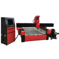 China Stone engraving cnc router machine with worktable size 1300*2500mm and turning rotary KC1325R-S on sale