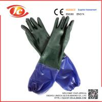 new style PVC gloves with long sleeve cuff  fisher industrail Manufactures