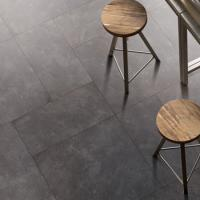 China 3D Inkjet Ceramic Kitchen Floor Tile , Anti Bacterial Black Kitchen Floor Tiles on sale