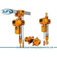 China 1 Ton - 5 Ton Overhead Electric Hoist Chain Sling Type With Mechanical Load Brake on sale