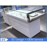 Simple Nice Wooden Glass  Gloss White Jewellery Shop Counter Manufactures