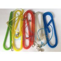 Steel Wire Core Spiral Fishing Pole Leash , Strong Spiral Spring Coil Lanyard Manufactures
