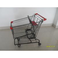 Durable Grocery Shopping cart trolley With welded low tray and 4x4inch swivel lfat casters Manufactures