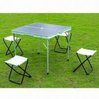 Folding Chair and Table Set, 600D Oxford Fabric, Steel Tube, Suitable for Outdoor Parties Manufactures
