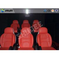 Comfortable red motion chair 7D movie theater of motion cinema equipment Manufactures