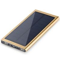 High Quality 8000mAh Polymer Lithium Battery Solar Charger Waterproof power bank for Mobile phone Manufactures