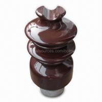 China Line Post Porcelain Insulator with NEMA Standard and Brown or Gray Glazed on sale