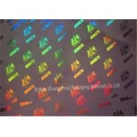 Metallized Polypropylene BOPP Holographic Film Laser Transfer 21 Micorn Thickness Manufactures