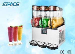 Commercial Grade Slush Machine , Frozen Drink Maker Machine 3x12L Output Manufactures
