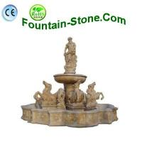 China Beige Travertine Horse Statuary Water Fountain In European Style on sale
