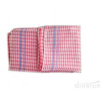 China Personalized Plaid Woven Kitchen Tea Towels With Terry Loop Different Color wholesale