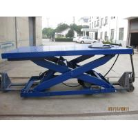 Stationary Type Hydraulic Scissor Lift Table , Manual Lift Table With 500 - 5000 Kg Load Manufactures