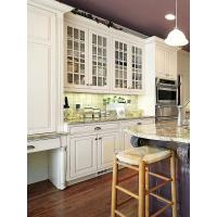 China Newest design solid wood kitchen cabinets granite countertop island on sale