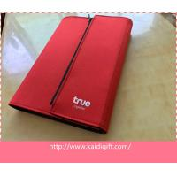 China new fashion style PU leather notebook with zipper closure or magnet on sale