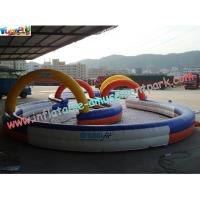 Durable Inflatable Sports Games Race Track , Inflatable Go Kart Track Manufactures