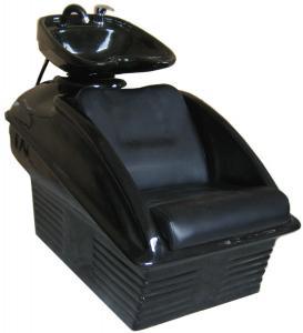 Lie Down Shampoo Chairs And Sinks Fiberglass , Reclining Shampoo Chair 33 Height Manufactures