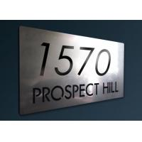 Beautiful Patterns Custom Stainless Steel Signs With Etching / Polishing / Polishing Processes Manufactures