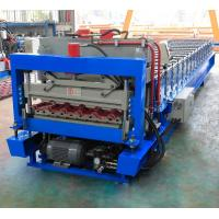 Metal Glazed Roof Tile Roll Forming Machine With High Production Speed Manufactures