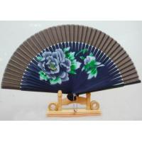 Folding Chinese Bamboo Fan Silk Hand Fan Craft For Wedding Gifts Manufactures