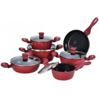 12pcs red italian prestige camping forged aluminum non-stick cookware set Manufactures