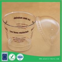 Quality transparent plastic disposable Ice Cream Cups with lids 180 ml for sale