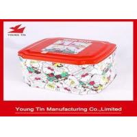 Metal Cookie And Biscuits Packaging Gift Tins Tinplate Material Type CMYK Printed