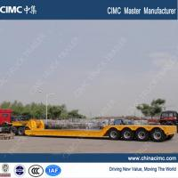 extendable 4 axles gooseneck detachable front loading trailer 100 tons Manufactures