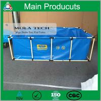 China China Supplier PVC Steel Structure Folding Fish Tank with Fish Farm on sale
