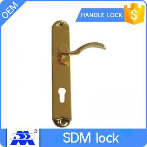 Unique Brass Plate Door Handle Sets , Keyed Entry Door Handlesets Manufactures