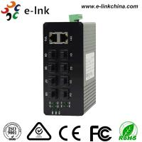 China Unmanaged Optical Industrial Ethernet Switches 8 port 1000Base-FX SFP + 2 port 10/100/1000Base-TX on sale