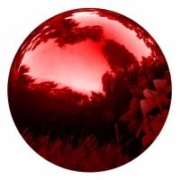 30CM/12 Inch Red Gazing Hollow Metal Balls Globe Mirror , Stainless Steel Sphere Manufactures