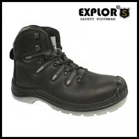 Men's heavy duty safety boots with steel toe work shoes full grain leather upper Manufactures