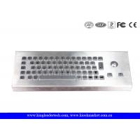 China Dust-Proof and Waterproof Desktop Industrial Keyboard With Stainless Steel Trackball wholesale