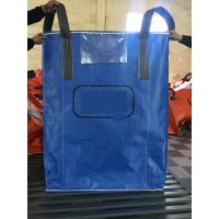 High quality blue color PP woven circular jumbo bags with square bottom sift-proofing Manufactures